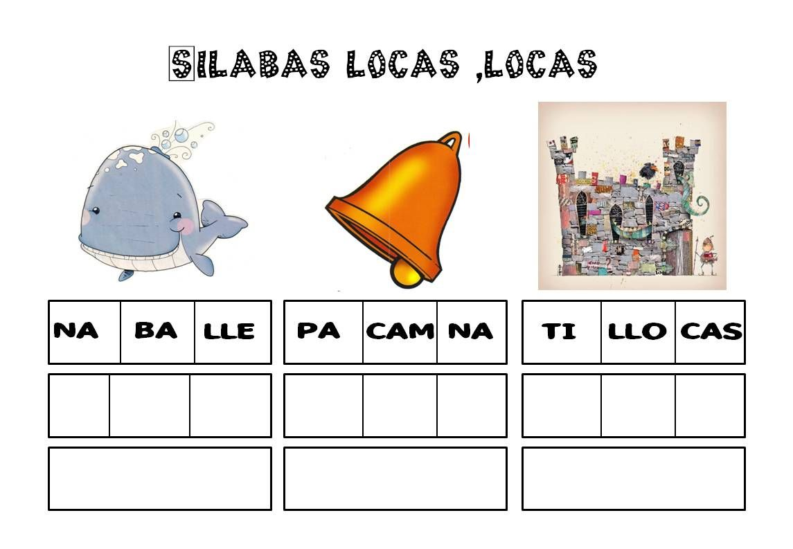 Silabas Vocabulario Palabras Ejercicios De Lengua Fichas De Lengua