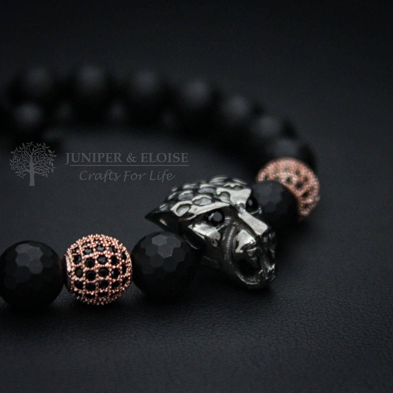 Christmas Gift Black Panther Bracelet Men s Bracelet 925 Silver