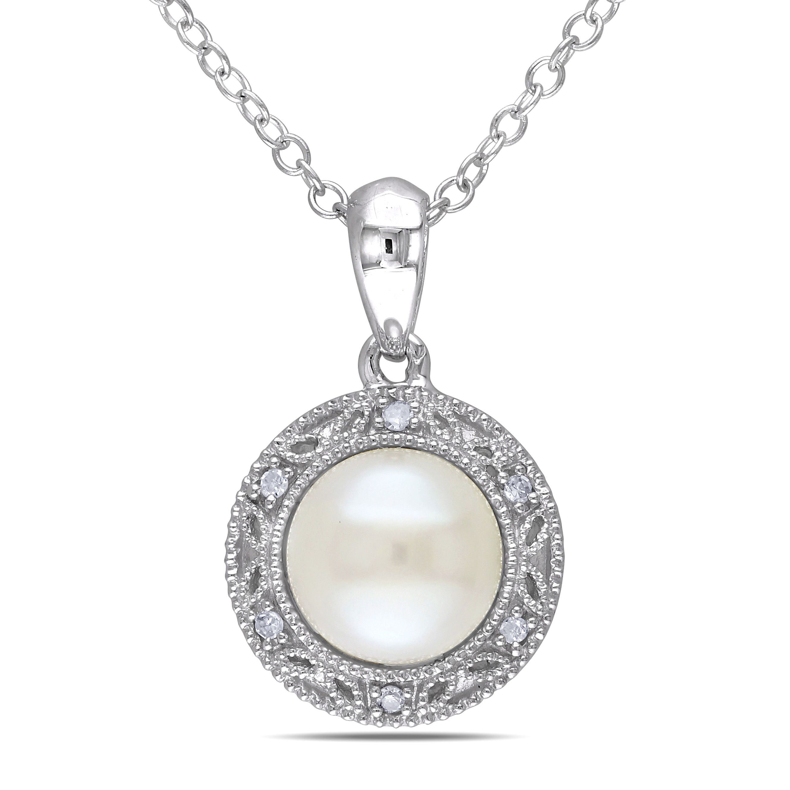 Embrace the traditional look of pearl jewelry with this beautiful