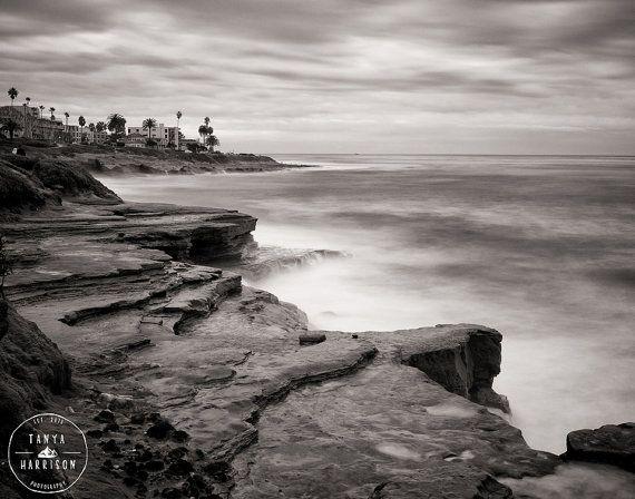 San diego california beach photography la jolla cliffs 8x10 or 11x14 fine art giclée print free worldwide shipping