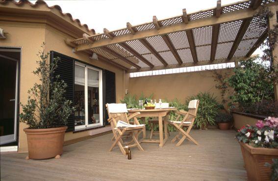 Toldos toldo pergola de madera economico toldo exterior for Cobertizos para terrazas