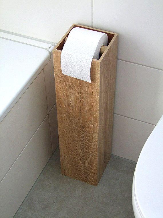 Attraktiv Toilettenpapierhalter MIDI, Toilettenpapierständer, Klopapierhalter, H/B/T  60/15/15cm, Mit Reservebox Für 4 Rollen N E U: Die Rollenstange Hällt Nun  ...