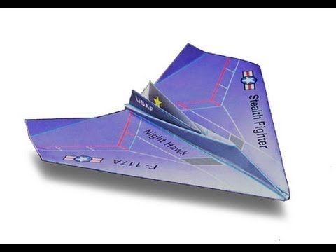 nighthawk paper airplane f 117 night hawk youtube