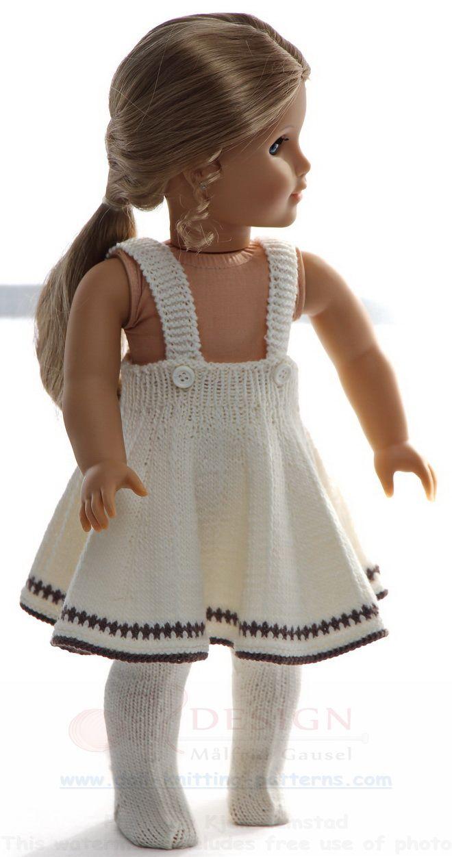Puppenkleid stricken #girldollclothes