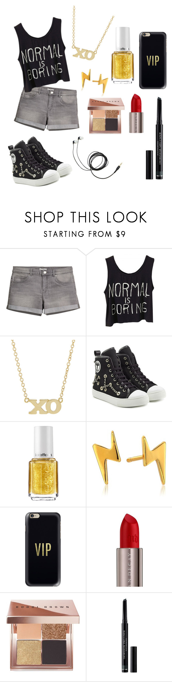 """street outfit"" by slatkica676 ❤ liked on Polyvore featuring Jennifer Meyer Jewelry, Moschino, Essie, Gorjana, Casetify, Urban Decay, Bobbi Brown Cosmetics and Christian Dior"