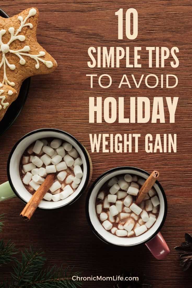 10 Simple Tips to Avoid Holiday Weight Gain #Christmas #Holiday #HealthyLife #Fitness