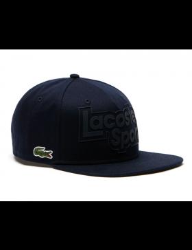b4a1f0220d3ec Lacoste snapback cap - sport branded - marine blue