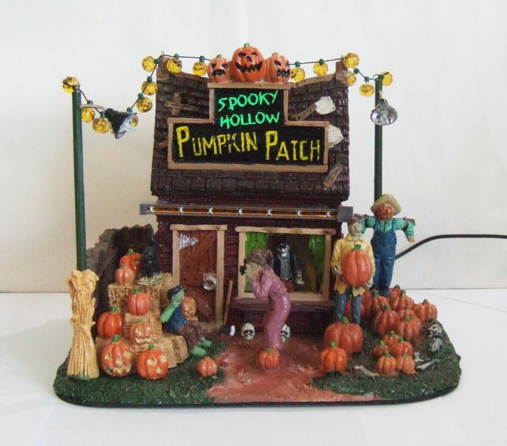 lemax spooky town halloween village spooky hollow pumpkin patch 54902 nib le