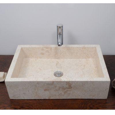 Lavabo rectangular con mármol crema Zarrillo   Lavabo ...