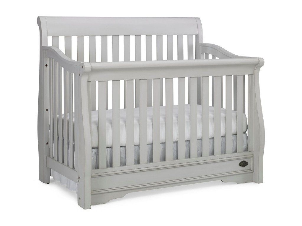 Bonavita Sawyer Convertible Crib Linen Grey Cribs Convertible