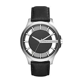 3b774adb62a6 AX Armani Exchange Men s Stainless Steel Leather Two Piece Strap Watch