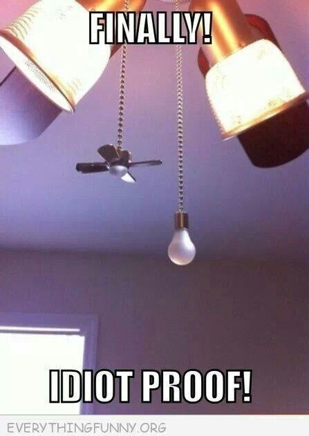 "Ceiling Fan Pulls ""For Idiots' Style"