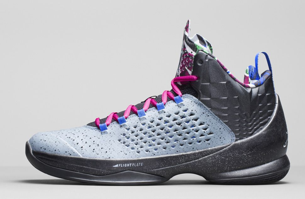 huge discount 56269 fe55c New 2015 Nike Air Jordan Melo M10 Metallic Silver Black Purple R