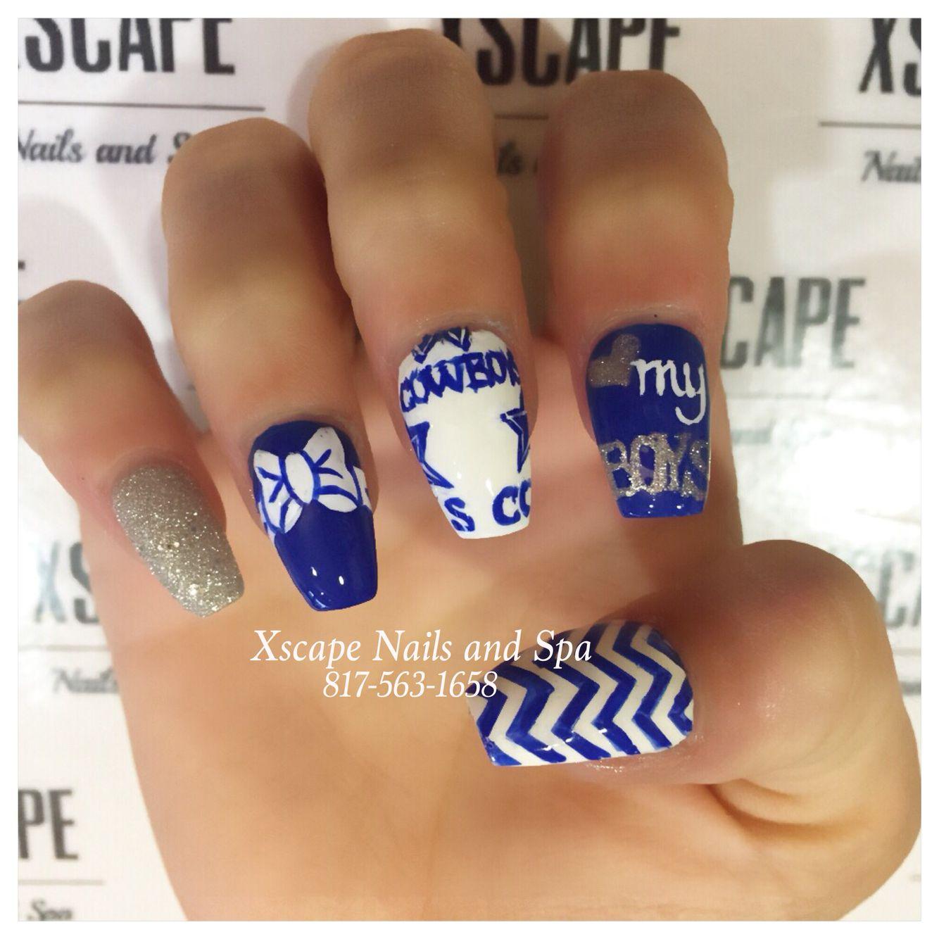 Coffin Dallas Cowboys Nails   Cute Nails Designs   Pinterest ...