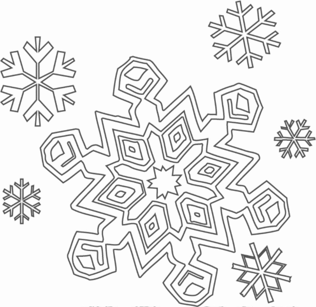 Snow Coloring Worksheets