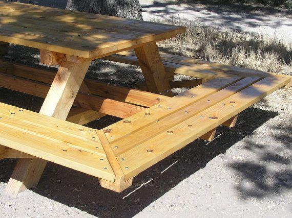 Wonderful Custom Made Picnic Tables Large Thru Bolt By MidCenturyWoodShop