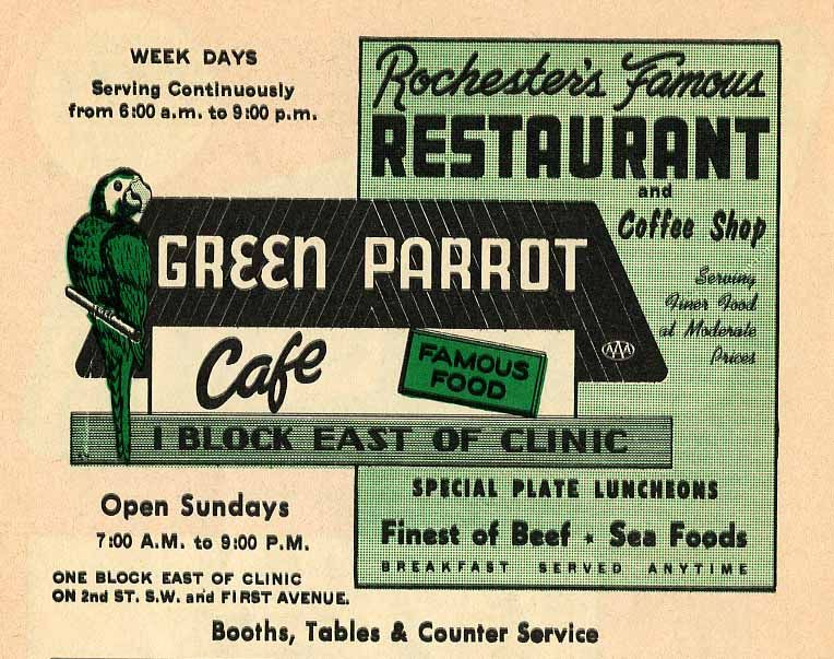 Vintage Restaurant Ads