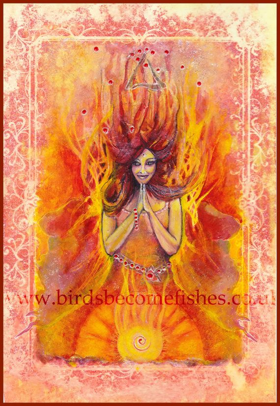 Elements Fire: The #Fire Element Natural Elements Angel, by BirdsBecomeFishes.