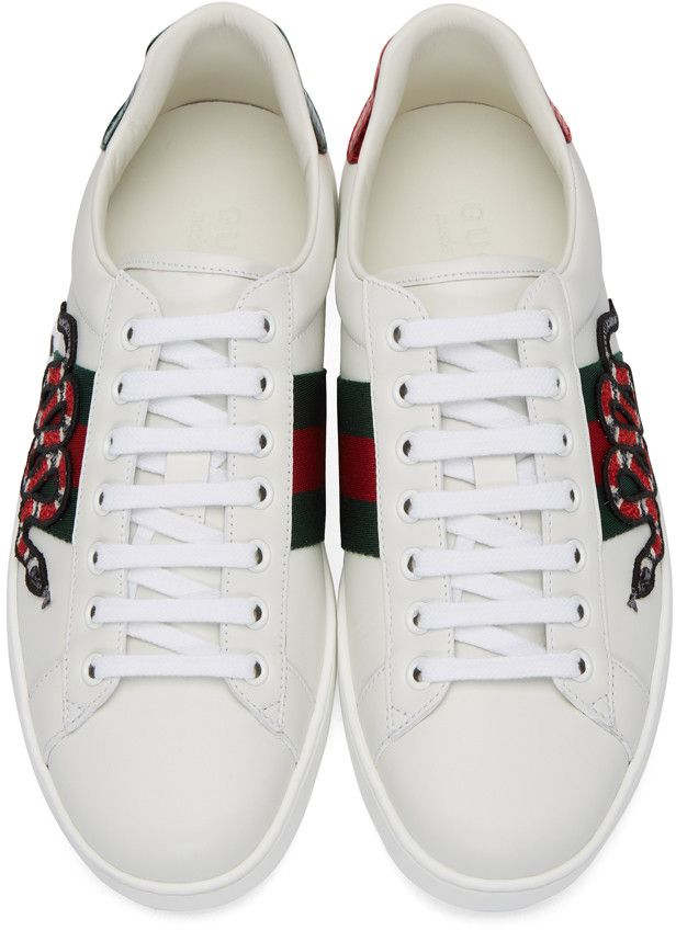Gucci - White Snake Ace Sneakers