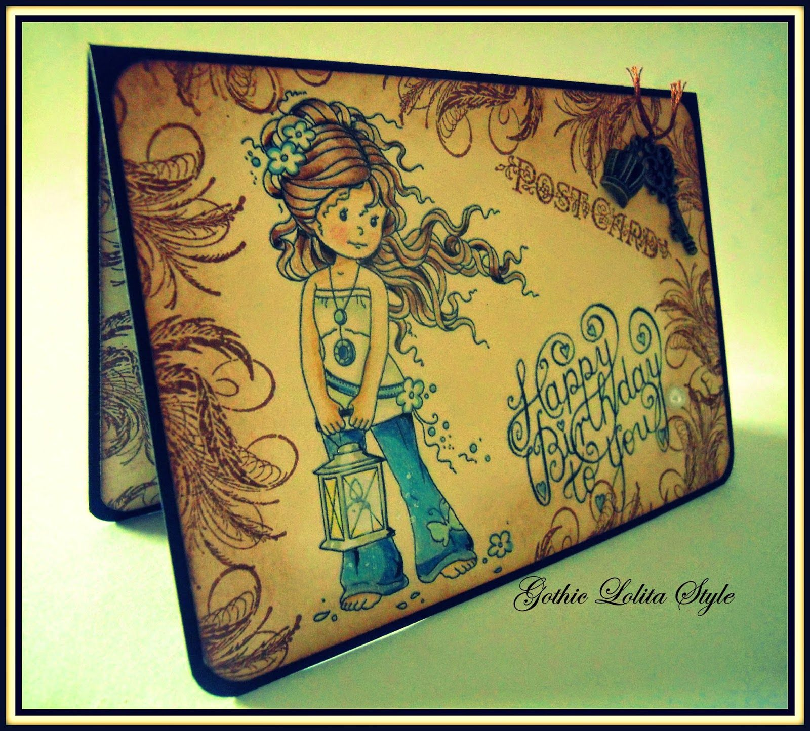 Gothic Lolita Style: Card Hopeful Wee Stamps