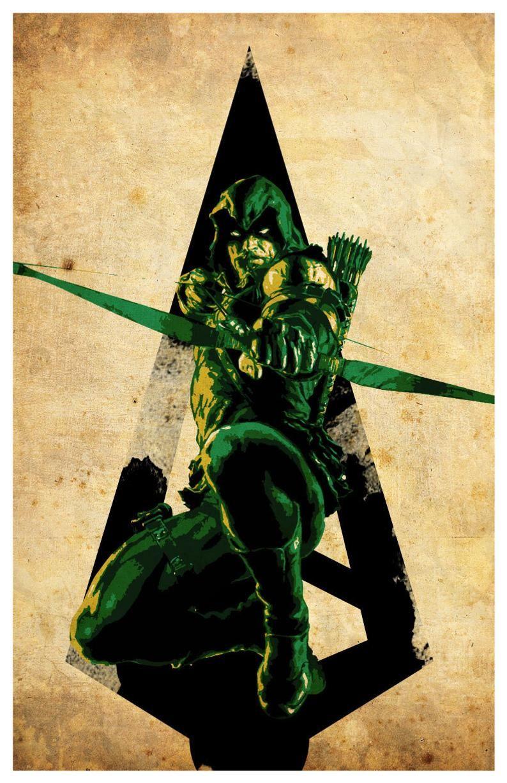 Minimalist Green Arrow Poster
