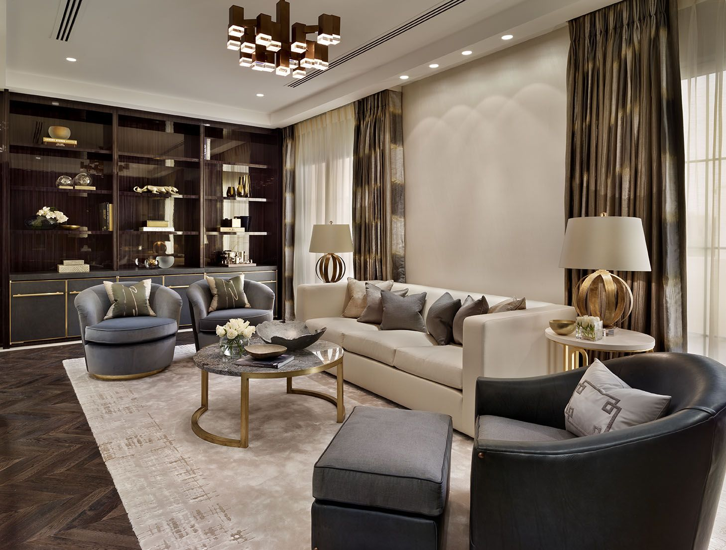 Qatar Fabulous Bookshelf Design Living Room Designs