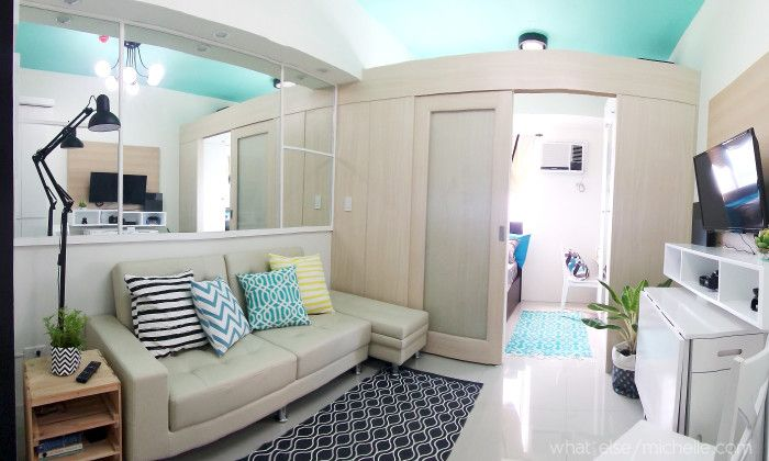 Light And Airy 23 Sqm Condo Unit Condo Interior Design Small Condo Interior Design Small Condo Living
