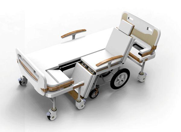 Innovative Hospital Bed Transform Wheelchair By Lirong Yang Hospital Bed Wheelchairs Design Hospital Design