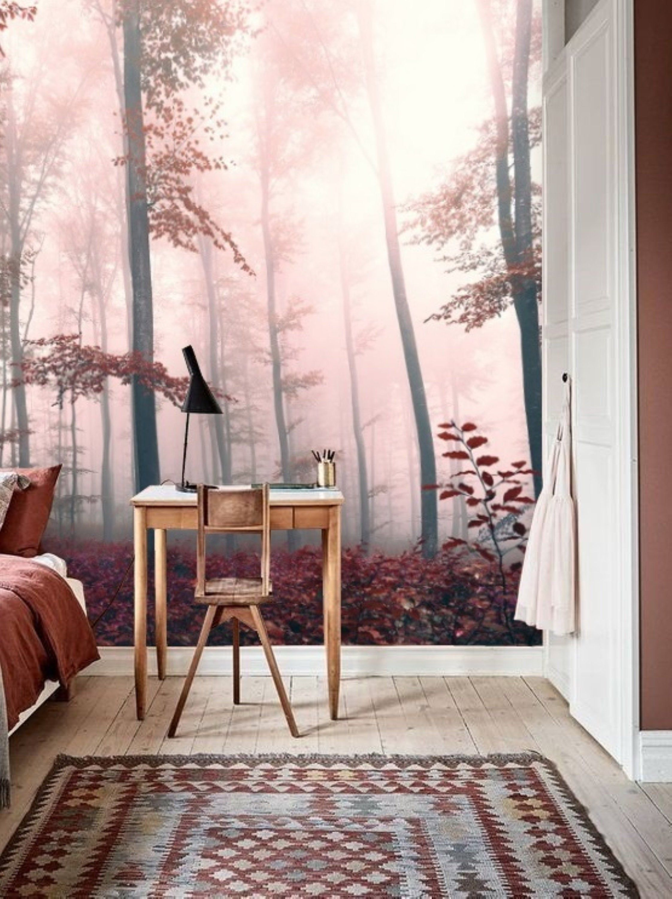 Forest Wall Mural Removable Wallpaper Peel Stick Mural Landscape Wallpaper Forest Reusable Wallpaper Temporary Large Forest Print 177 Forest Wall Mural Wall Murals Mural