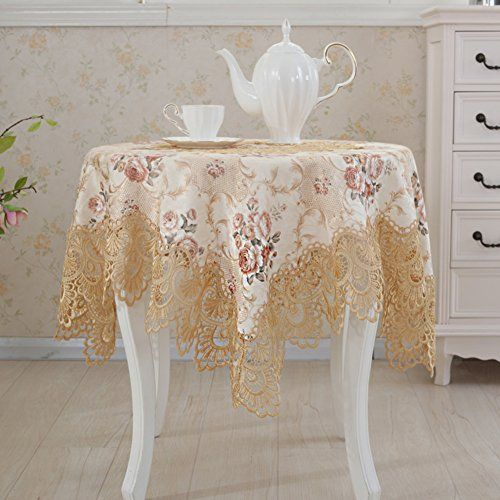 Lace european round table clothcloth cloth tablecabinet towel
