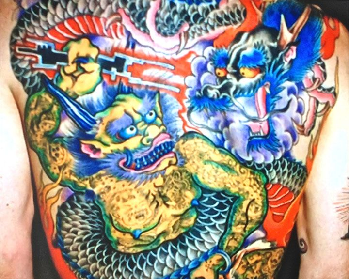 ed hardy japanese art full back tattoo fighting dragons ink tatoo art pinterest tattoo and. Black Bedroom Furniture Sets. Home Design Ideas