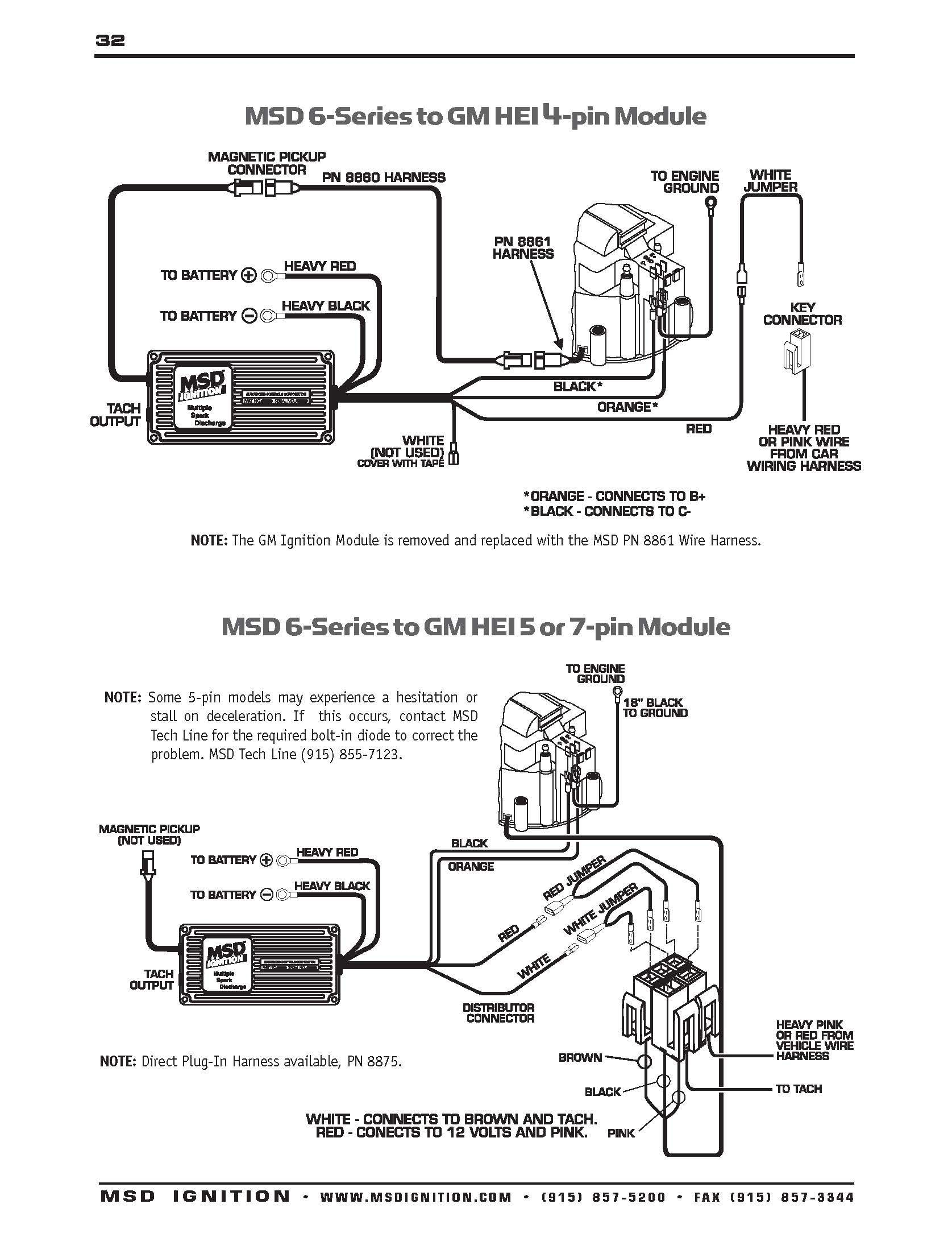 Gm Hei Distributor And Coil Wiring Diagram Diagram Msd Automotive Shops