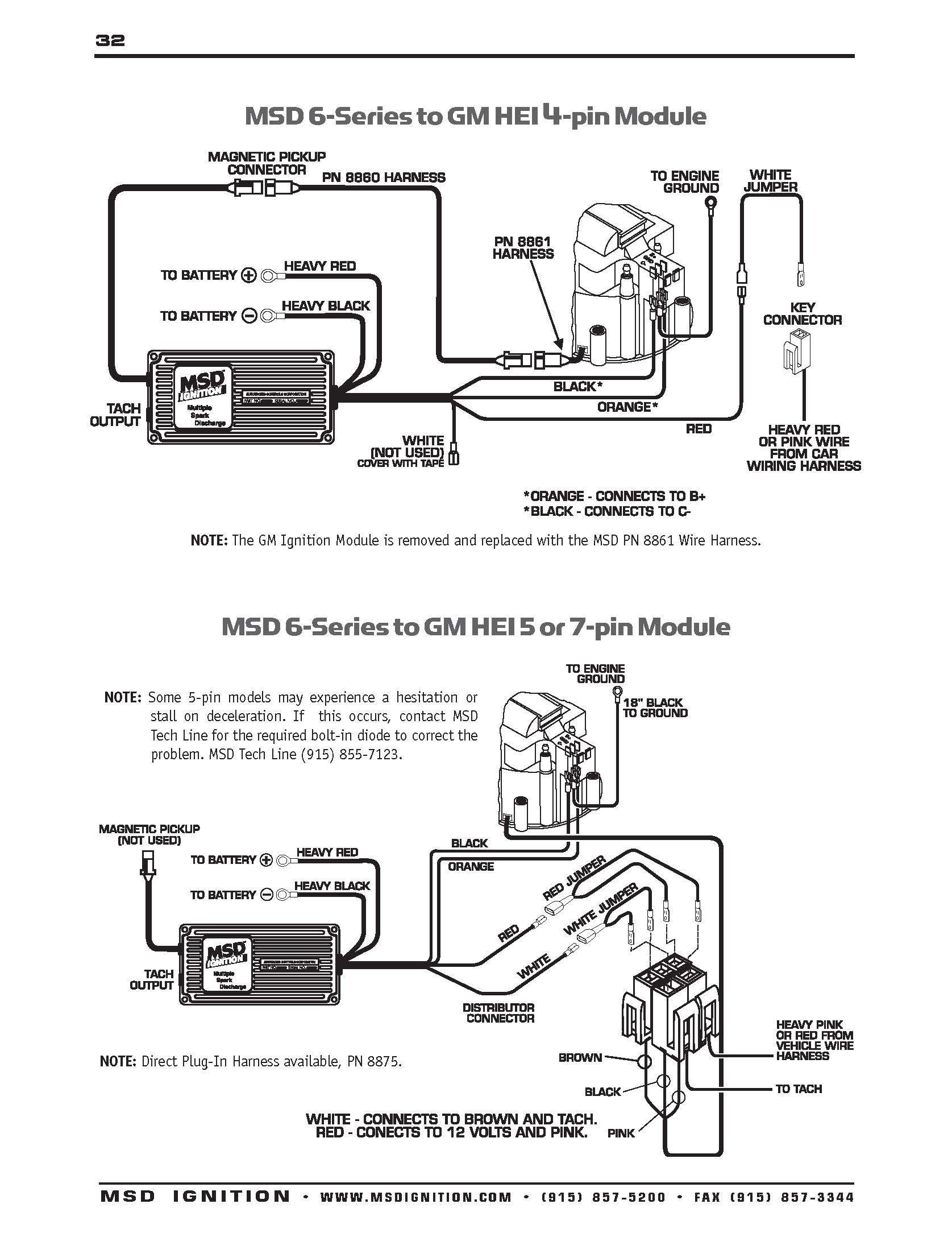 msd 6al to hei distributor wiring diagram  schematic wiring