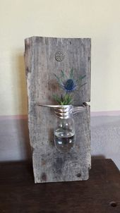 Photo of Driftwood Silver Fork Used Pear Vase Upcycling Handmade in Hamburg – #Bul …