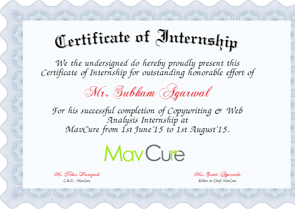 Internship certificate 5 internship tips and advice pinterest internship certificate 5 altavistaventures Image collections