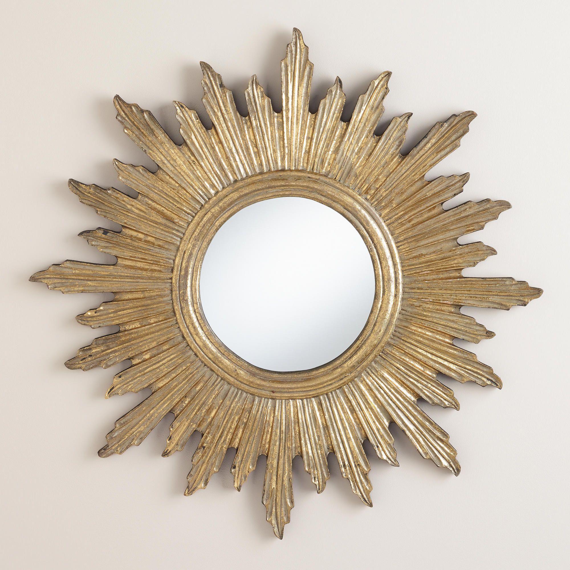 Large Antique Gold Leila Sunburst Mirror Sunburst Mirror Gold Sunburst Mirror Sunburst