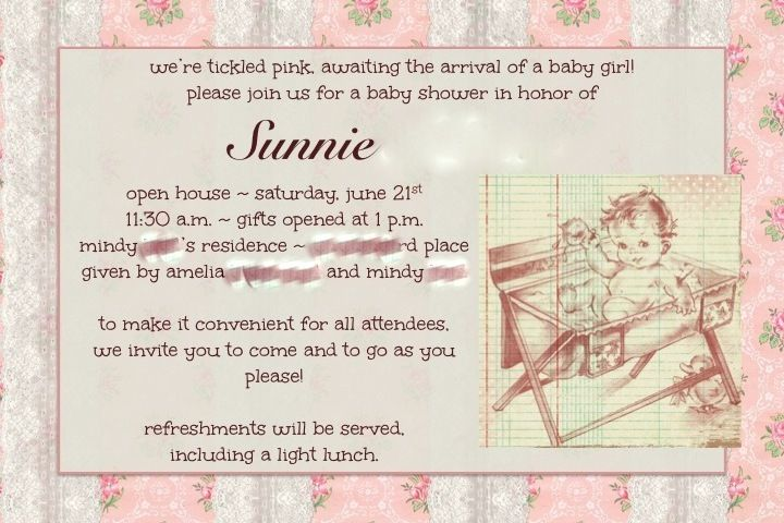 baby shower invitation  open house