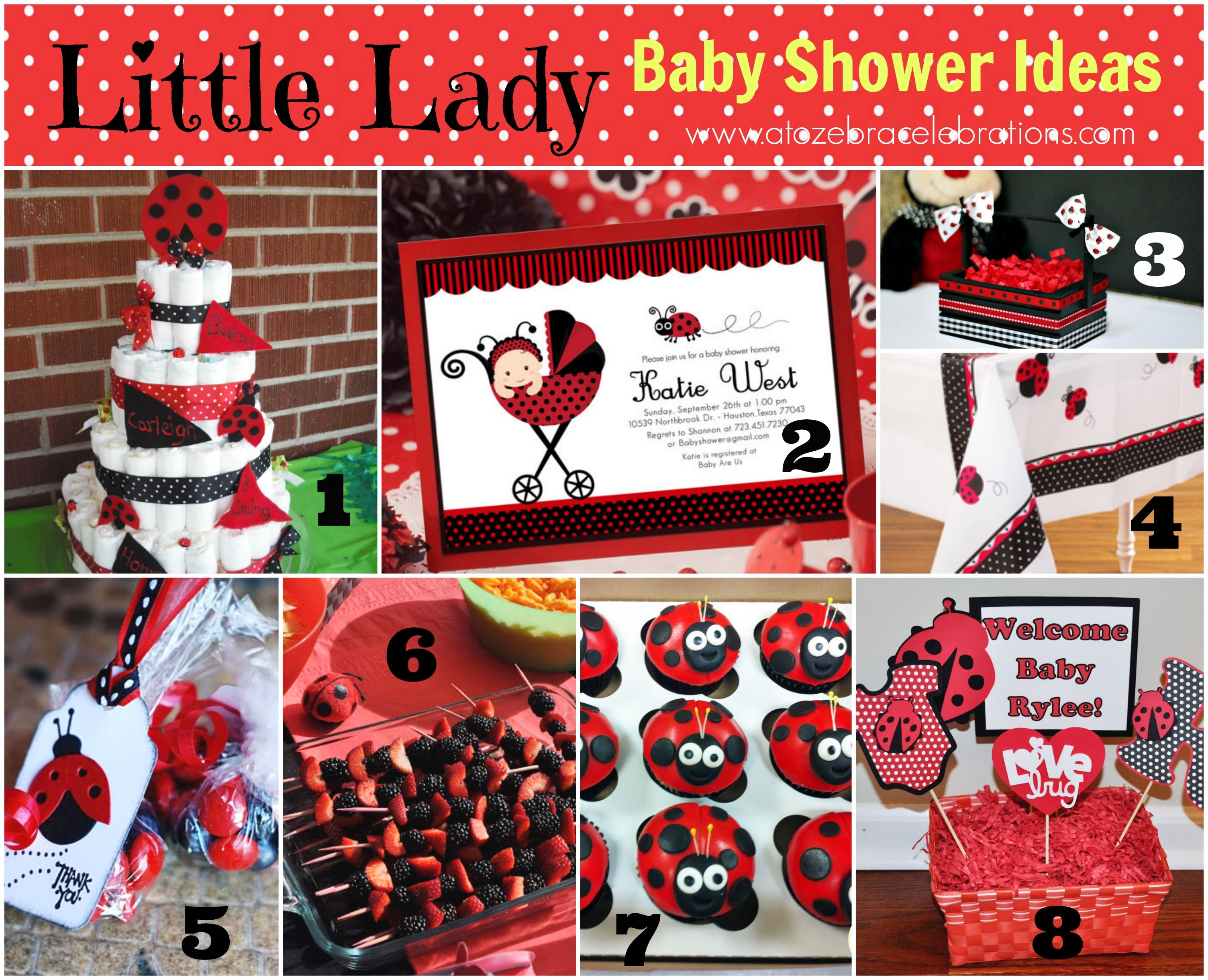 ladybug baby shower ideas Best Party Ideas Pinterest