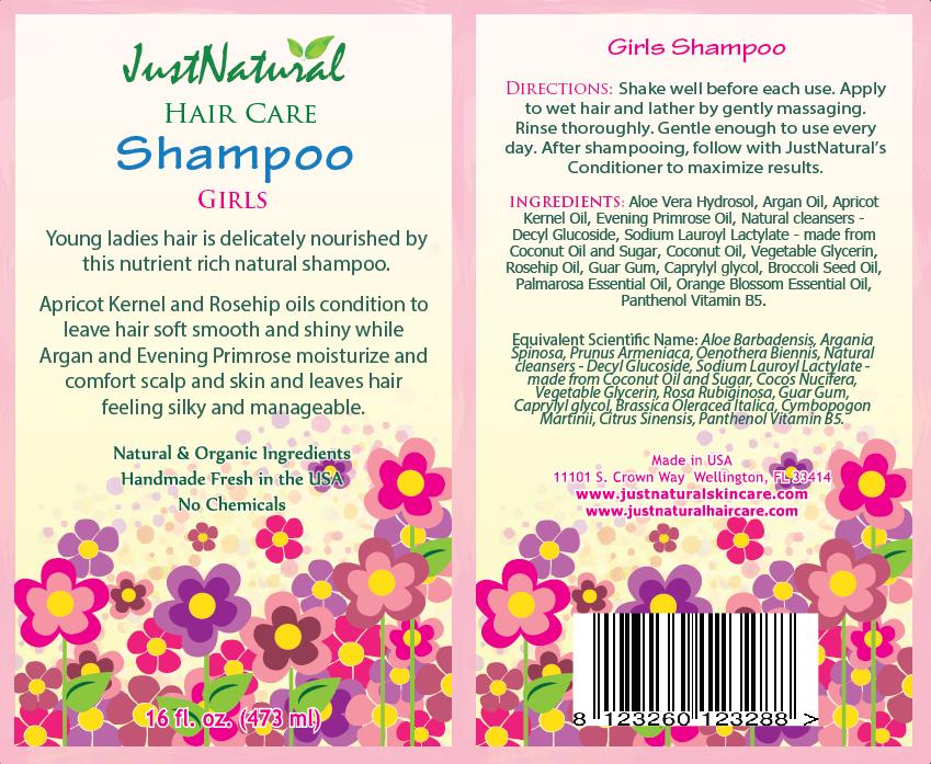 Girls Hair Shampoo Natural Organic Solutions