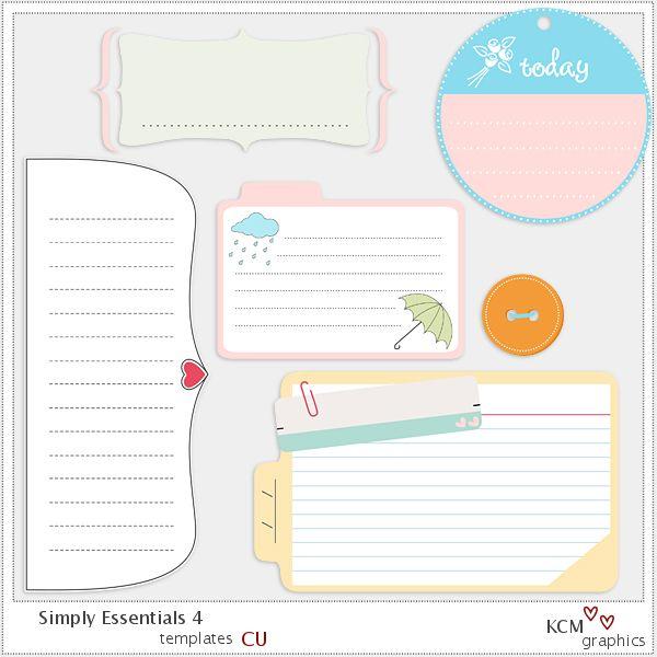 KCM Graphics: Freebie simply essentials series 4 diffrent sets