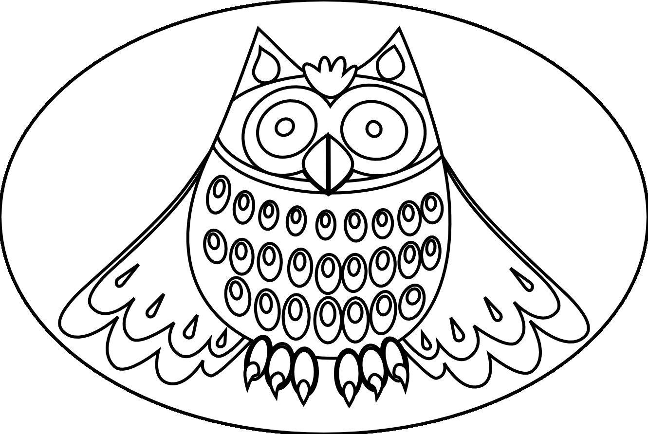 Cute Owl Coloring Pages For Kids | Desenhos Mandalas | Pinterest ...