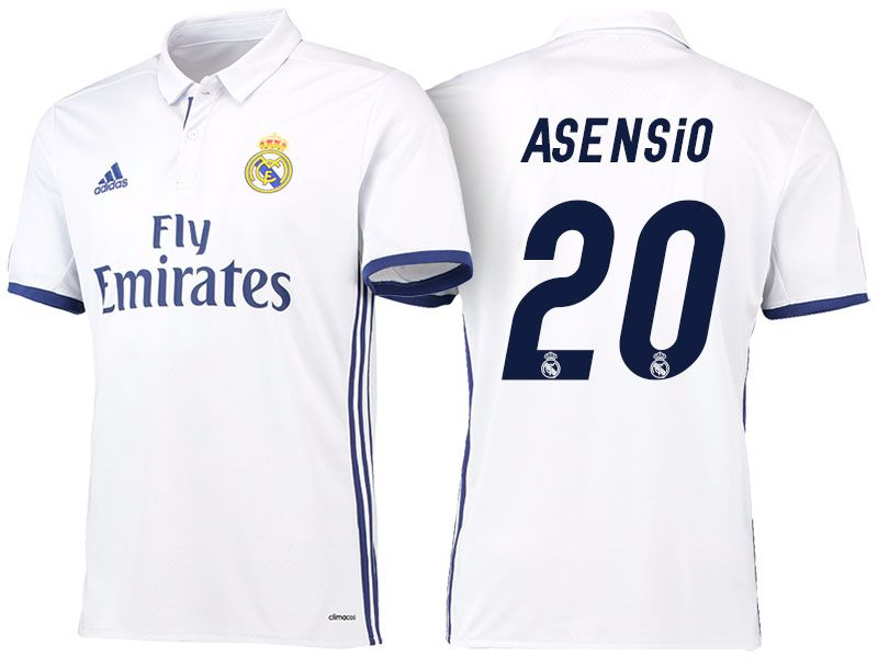 new arrival fe365 ac56a Real Madrid #20 Marco Asensio 2016-17 Home Jersey | Real ...