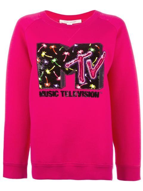 de35b03a845a05 Shop Marc Jacobs MTV x Marc Jacobs embellished sweatshirt.