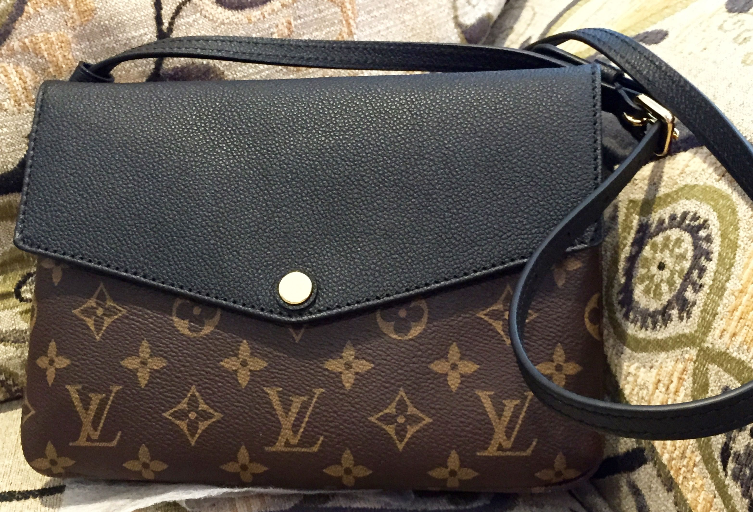 Louis Vuitton Twinset. In Mono Noir. Just bought this and LOVE it.  Sometimes I don t want to carry a heavy bag and this cross body with three  sections is ... 17fac4d565cb0