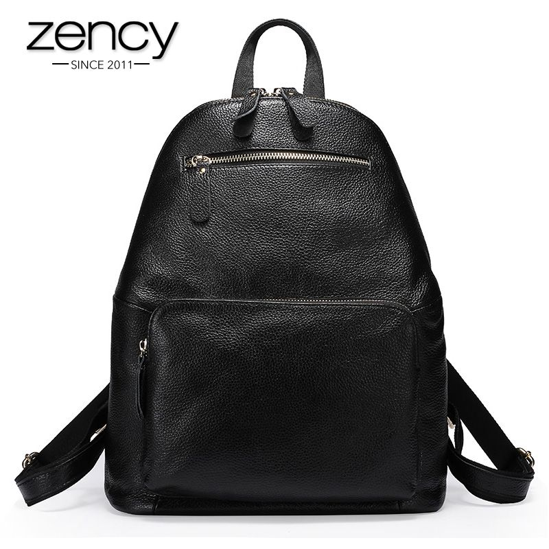 HelloZENCY Real Leather Large Backpack Luxury Brands Natural Genuine  Leather Backpacks Cowhide Women Backpack Tote BagsZENCY Real Leather Large  Backpack ... 1e9734ad72