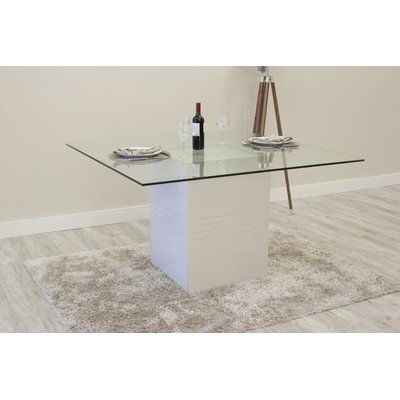 Orren Ellis Bourgeois Square Dining Table Finish Off White