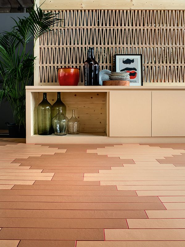 Tierras Industrial Sand Amp Blush Tiles On Floor With 3d