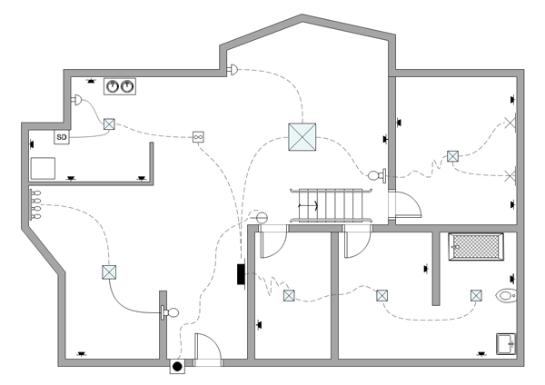 Free Site Plan Drawing The Above Electrical Plan Example Was Drawn