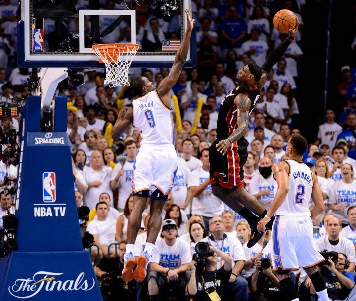 Lebron James Lift Off Nba Serge Ibaka Nba Finals Game