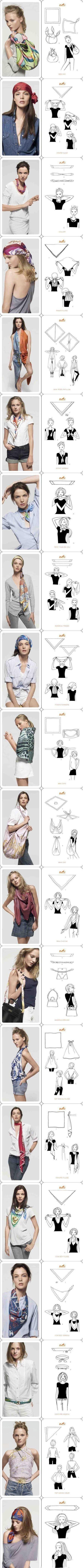 Como usar pañuelos